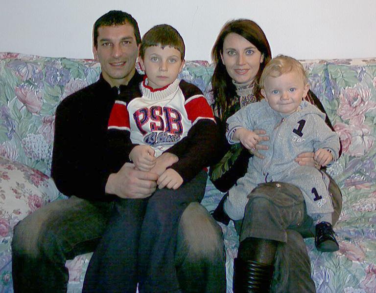 La famiglia del portiere della Samb Francesco Mancini