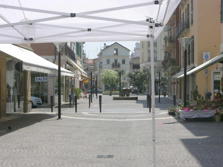 Un'immagine di via Montebello
