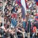 Esultanza in Curva Cioffi dopo la prima rete di Faieta in Samb-Genoa