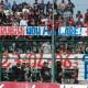 Messaggio su carta esposto dagli Ultras Samb per lo sfortunato giocatore del Giulianova Gianluca Cherubini