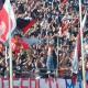 Il grande entusiamo della curva rossoblu durante Samb-Padova