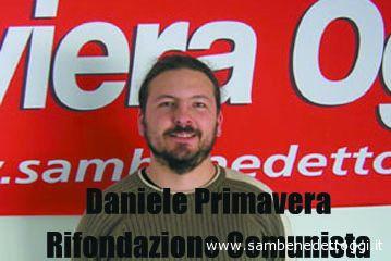 Daniele Primavera, candidato di Rifondazione Comunista