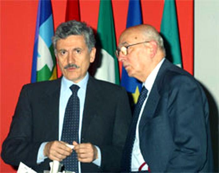 Giorgio Napolitano con Massimo D'Alema