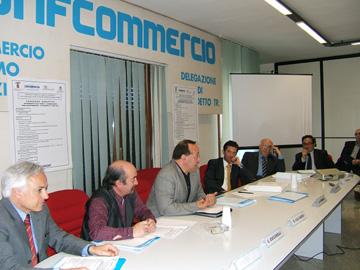 Un momento del convegno sulla rintracciabilità degli alimenti promosso dalla Confcommercio