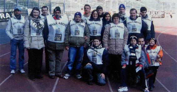 I tifosi dello Juventus Club Doc di Alba Adriatica allo Stadio delle Alpi di Torino