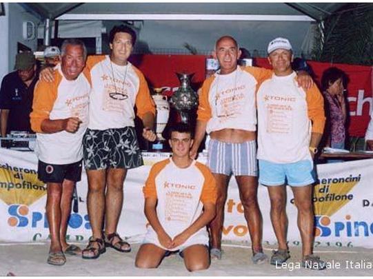 Alcuni esponenti della Lega Navale di San Benedetto