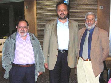 Da sinistra Novelli, Gaspari, Cresci