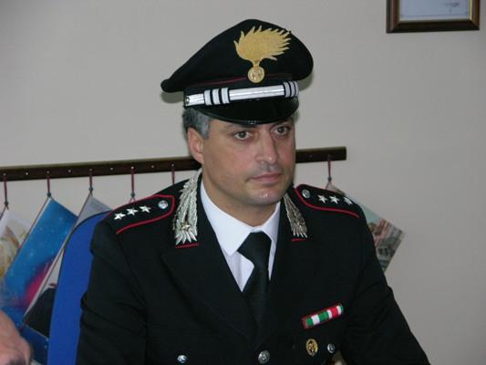 Il comandante della Compagnia dei Carabinieri di San Benedetto, cap. Giancarlo Vaccarini