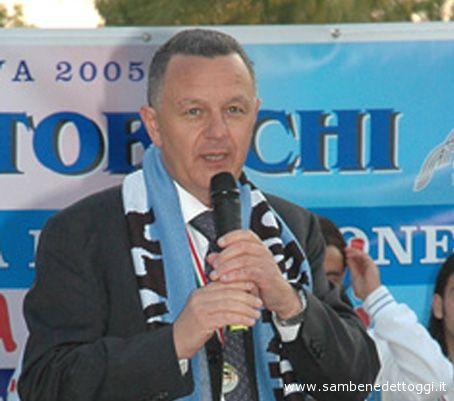 Il presidente del Centobuchi Calcio Claudio Marocchi