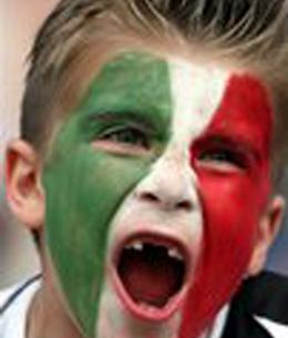 Un simpatico tifoso italiano durante Germania 2006
