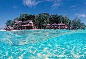 L'isola di Sipadan, dove si sono effettuate le riprese del video della Tridacne Sub