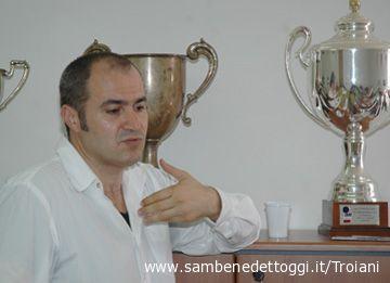Marcello Tormenti nella sede della Samb