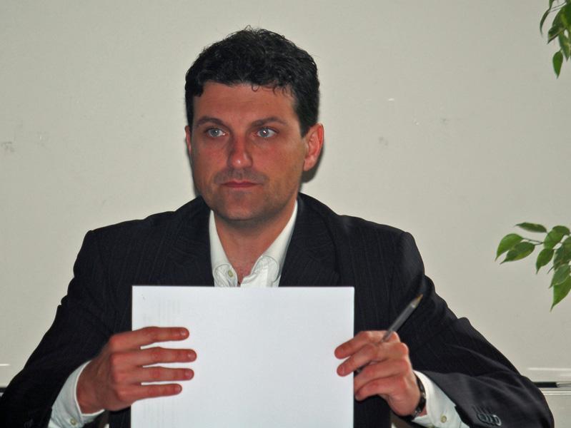 Il sindaco di Alba Adriatica Valerio Caserta