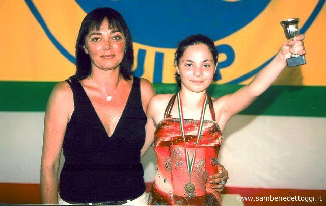 Francesca Calogiuri insieme al tecnico Monica Delli Figorilli