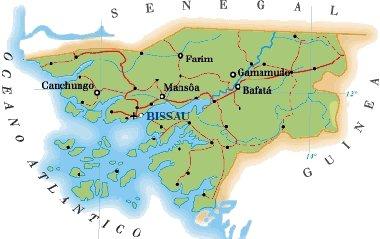 La Guinea Bissau si trova sulla costa nord-occidentale dell'Africa
