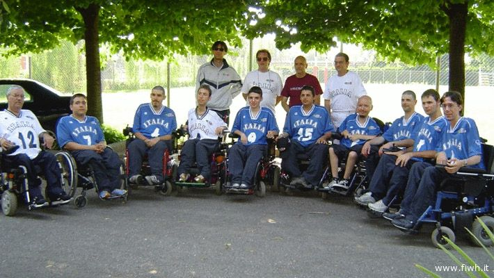 La nazionale italiana di wheelchair hockey