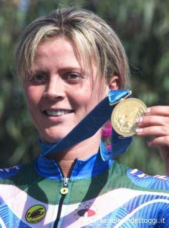 La campionessa olimpica Paola Pezzo