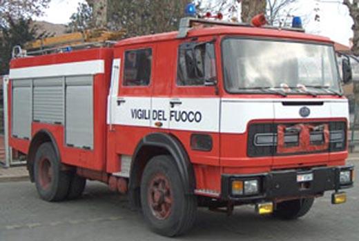 Un camion dei Vigili del Fuoco