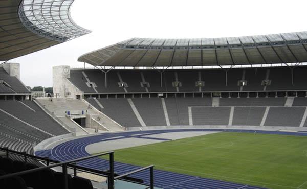 Un'immagine dell'Olympiastadion di Berlino