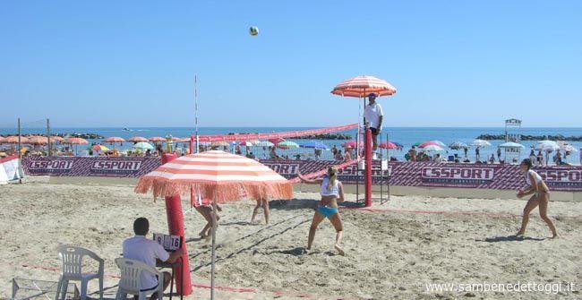 Fase di gioco del match tra le coppie Cavalluzzi-Bettiol e Pinciotti-Zamponi