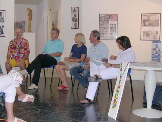 Patrizio Moscardelli, Carlo Gentili, Cecilia Dionisi, umberto Marconi, Enrico Piergallini alla presentazione della rassegna