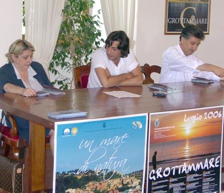 Fiorella Fiore, Enrico Piergallini, Luigi Merli alla conferenza