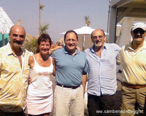 Da sinistra: Pino Parmegiani, Katie e Gianni Vitali, Nazzareno PErotti, Ettore Parmegiani