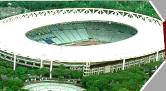 Un'immagine, dall'alto, dello stadio Olimpico di Roma