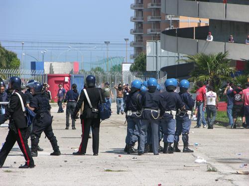 Gli scontri prima di Samb-Genoa del 23 aprile scorso