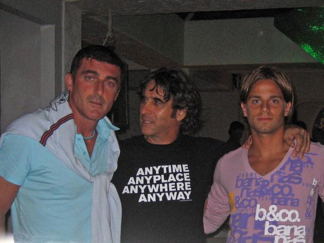 Gianluca Pagliuca, con Sandro Assenti e un amico
