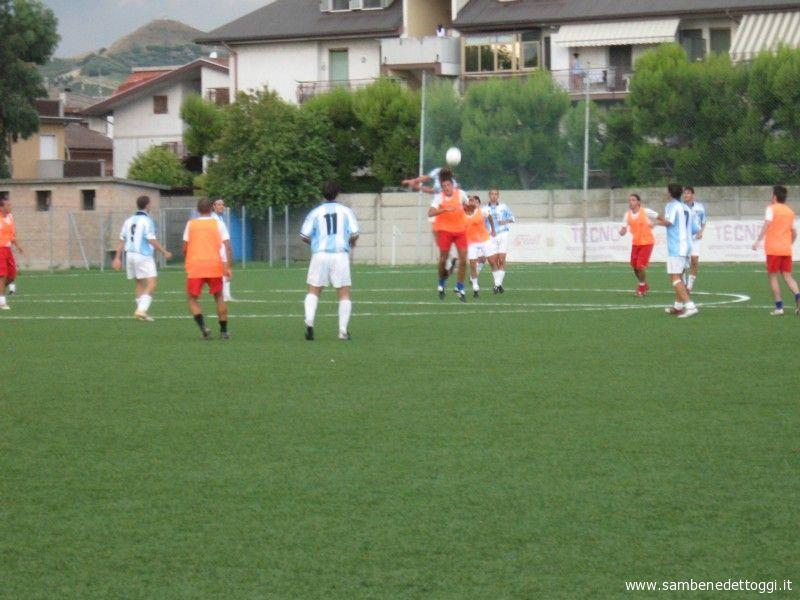 Il Porto d'Ascoli in azione nel test con il Pagliare