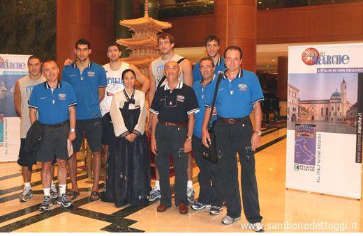 Giocatori e staff tecnico Azzurro in Giappone