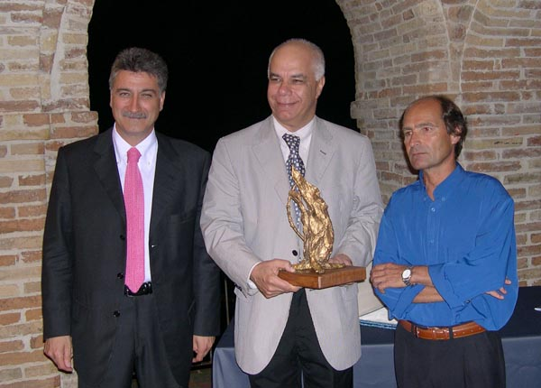 Merli, Reach, Santori alla premiazione