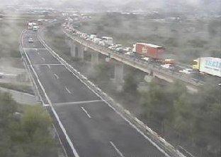 La situazione attuale sull'A14 a San Benedetto