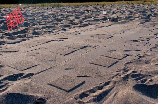 Gli strani segni sulla sabbia...