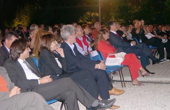 L'assessore Piergallini, il Sindaco Merli e presidente Massimo Rossi in prima fila