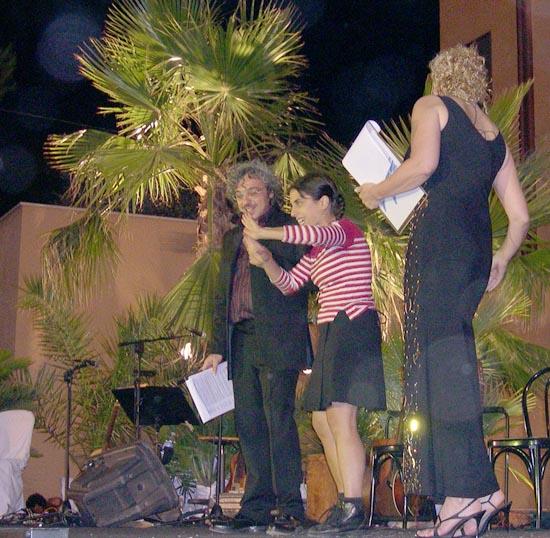 Rita Pelusio sul palco