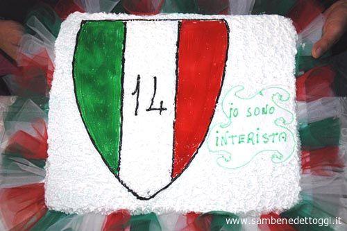 La torta col 14° scudetto