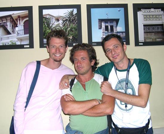 I tre finalisti: Corrado Boldi Cotti, Raffaele bruno e Marco Dondarini