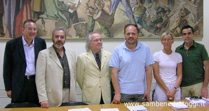 Il sindaco Gaspari, l'assessore alla cultura Sorge e il consigliere Palestini hanno incontrato i vertici della Università Politecnica delle Marche