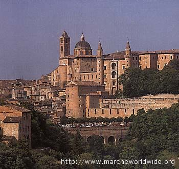 Una vista di Urbino