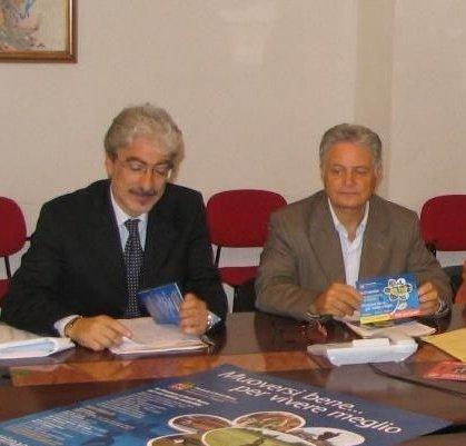 Il presidente Rossi e l'assessore provinciale Maroni durante la presentazione della Settimana Europea della Mobilità