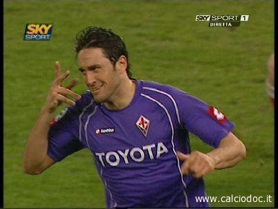 Luca Toni della Fiorentina in una immagine Sky