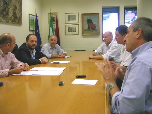 La riunione tra il sindaco Gaspari e altri esponenti della Giunta sull'iniziativa Giocosport