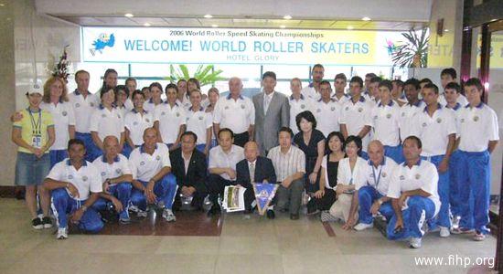 Foto di gruppo per la selezione azzurra ai Mondiali coreani
