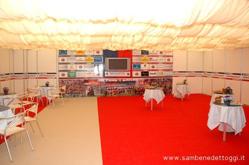 Veduta all'interno dell'Area Hospitality
