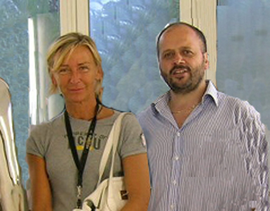 Margherita Sorge e il sindaco Giovanni Gaspari