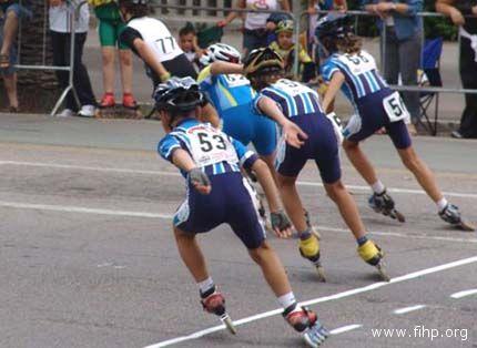 Atleti della Pattinatori Sambenedettesi impegnati, lo scorso 14 settembre, nel Meeting Città di San Benedetto
