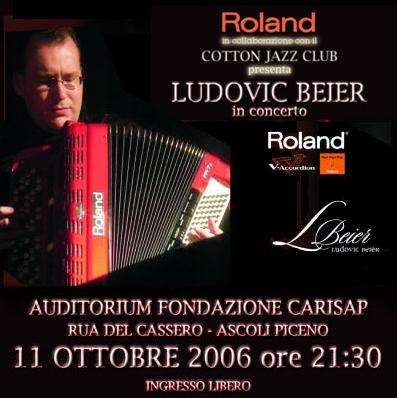 Ludovic Beier mercoledì 11 ottobre suonerà all'auditorium della Fondazione Carisap