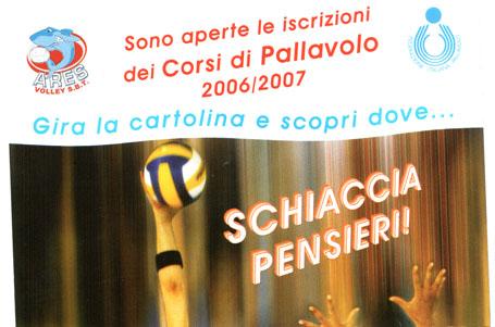 Una parte della brochure sui corsi dell'Ares Volley